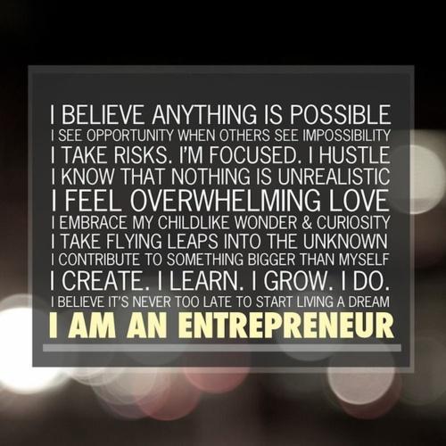 I Am An #Entrepreneur