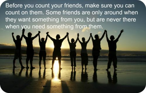 Before You Count Your Friends