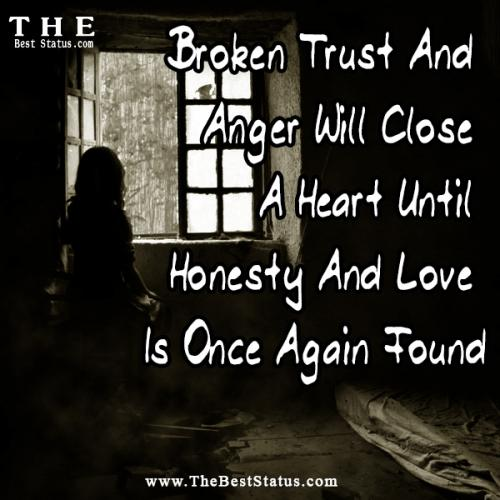 Quotes About Love And Anger: When Trust Is Gone Quotes. QuotesGram