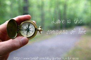 Love is the compass of life.