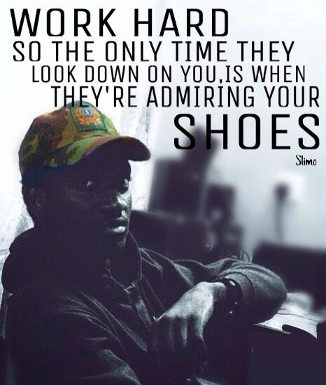 Work hard! So the only time they look down on you, is when they're admiring your shoes.