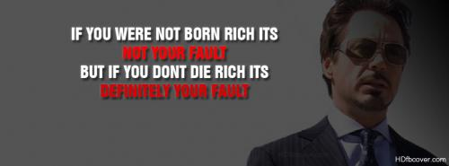 If You Were Not Born RICH Its Not Your FAULT BUT If You