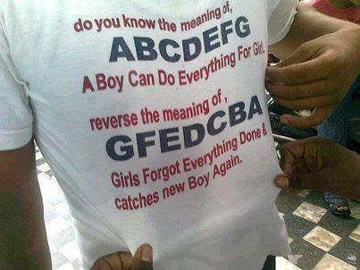 ABCDEFG OR GFEDCBA....??????  WHATS UR OPINION GIRLS AND BOYS....???