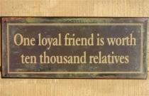 One Loyal Friend Is Worth to Ten Thousand Relatives...