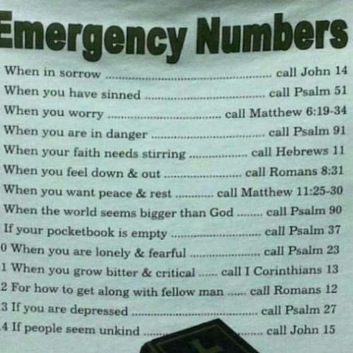 Emergency no.s