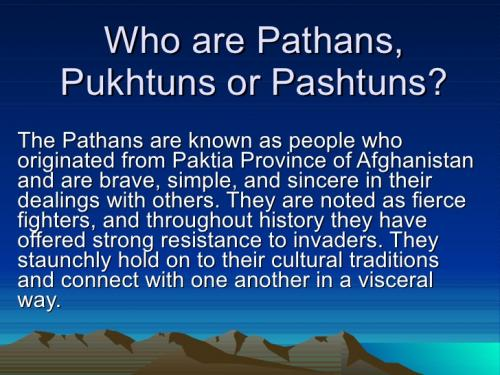 This is called Pathan.