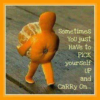 Sometimes, you just have to pick yourself up and carry on...