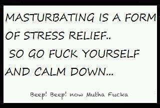 Stress and masturbation