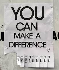 You can make a difference.Will you?