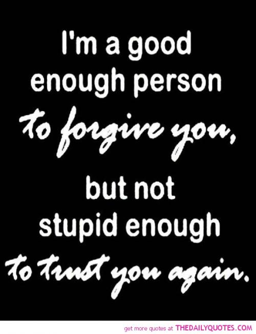 forgiveness and trusting again in a relationship