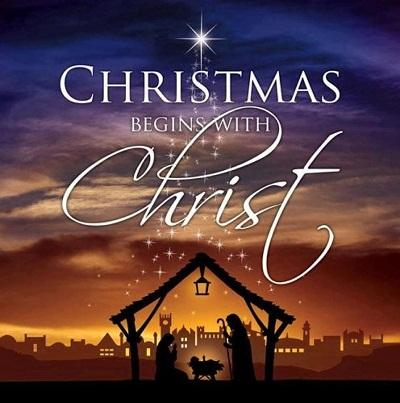 Christmas begins with Christ.