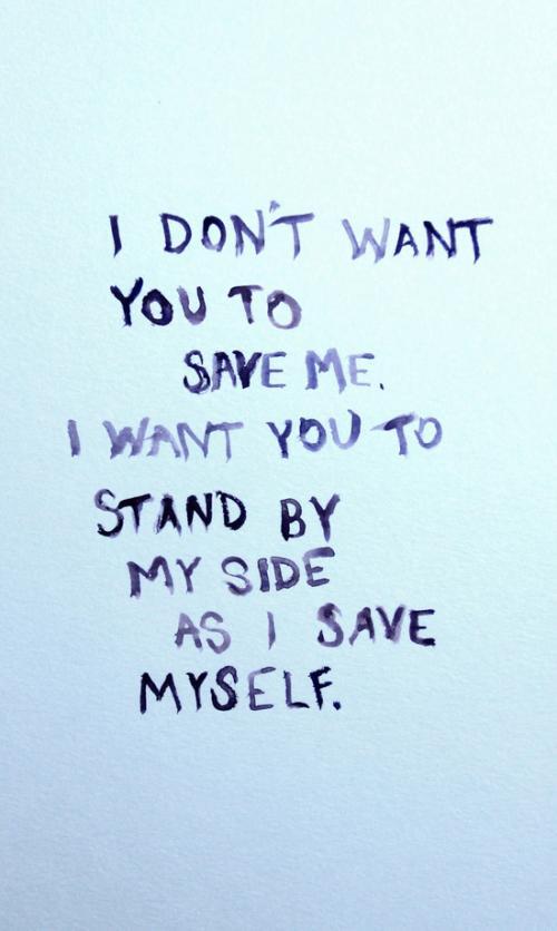 Let me save myself