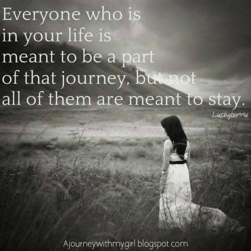 Everyone Who Is In Your Life Is Meant To Be A Part Of That Journey,