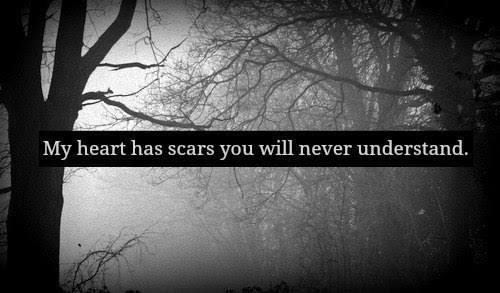 My heart has scars you will never understand!