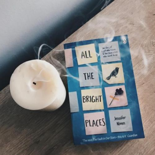 Stars in the sky, star on the ground. I hate to admit it, but it's so beautiful. I feel the need to say something grand and poetic, but the only thing I come up with is, it's lovely. -All the Bright Places