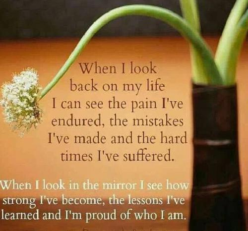 'When I look back on my life , 