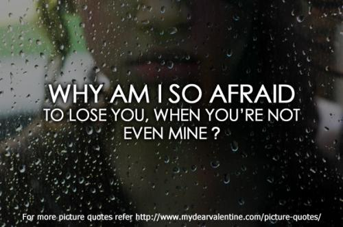 Why am I so afraid to ...