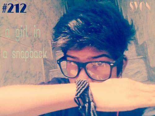 A girl is in snapback :)