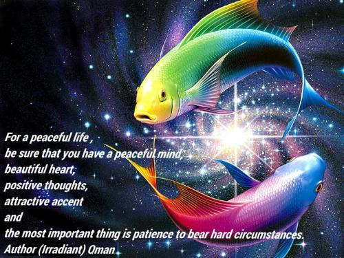For A Peaceful Life , Be Sure That You Have A Peaceful Mind, Beautiful Heart