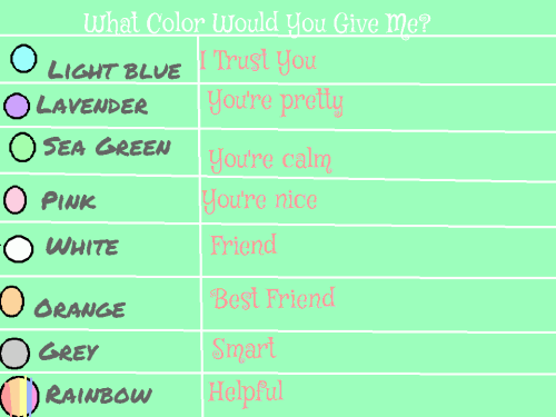 What Colors Would You Give Me