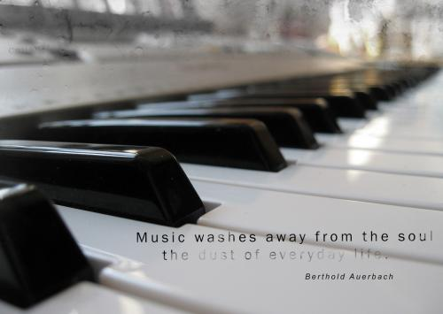 Music washes away from the soul the dust of everyday life.