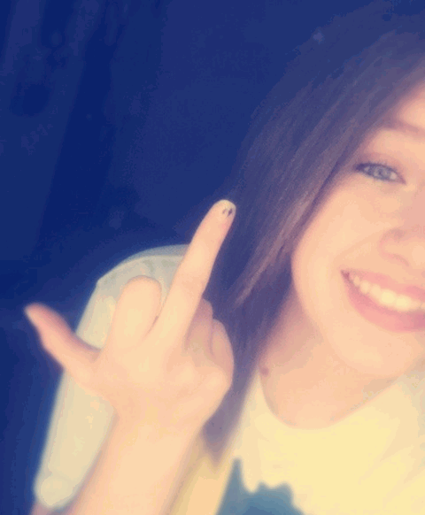 to everyone who thinks I give a ______ I could really care less.. so this finger goes to all of you who like to start rumors and drama!