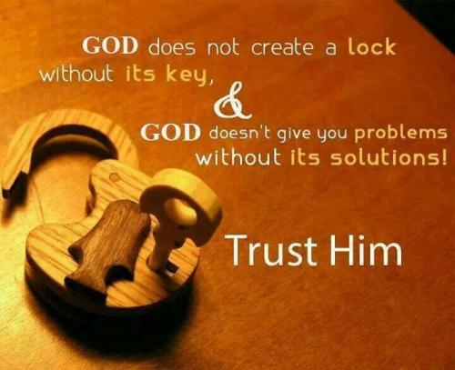 Trust ALLAH and everything will be fine