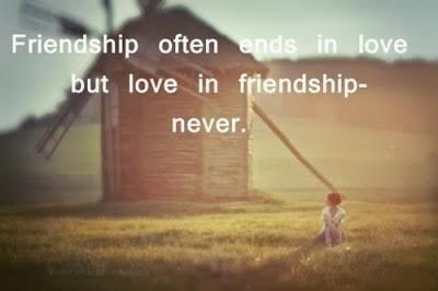 Friendship often ends in love; but love in friendship - never.