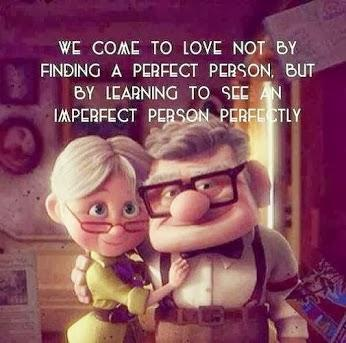 We come to love not by finding a perfect person, but by learning to see an imperfect person perfectly.