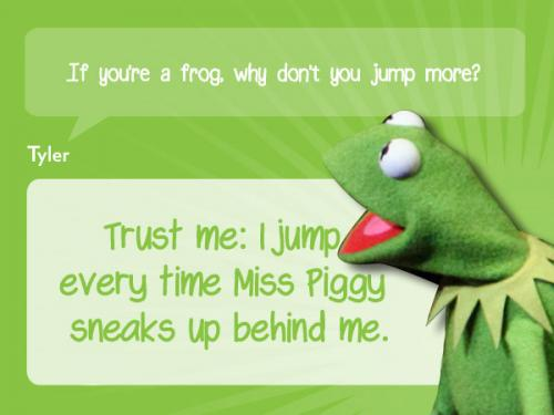 Miss.piggy did it.