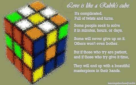 Life Is Like A Rubik's Cube;