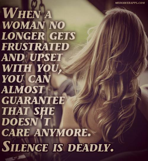 Never be silence on love