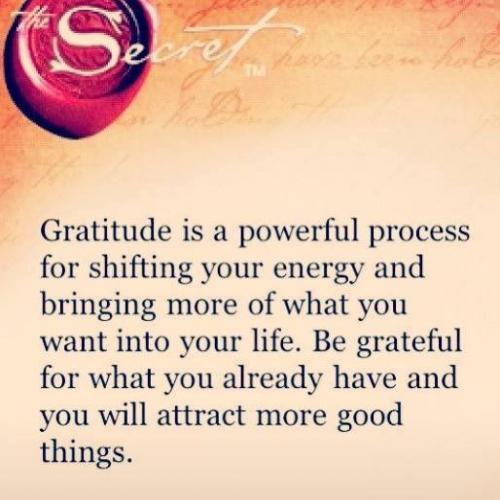 Be grateful for what you already have