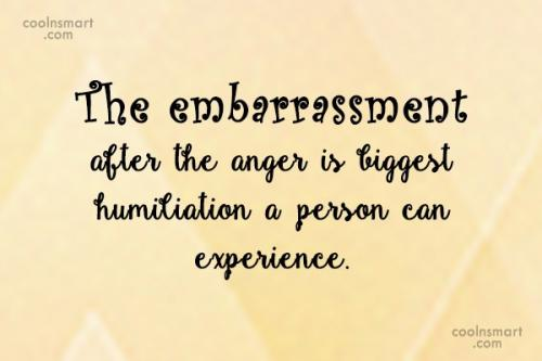The embarrassment after