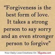 it's good to say sorry to a person that you made bad things than being manage by your anger.