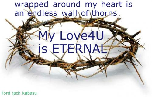 Wrapped around my heart is an endless wall of thorns.