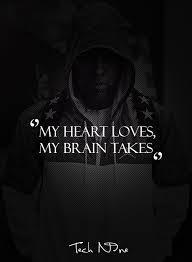 My heart loves My brain takes