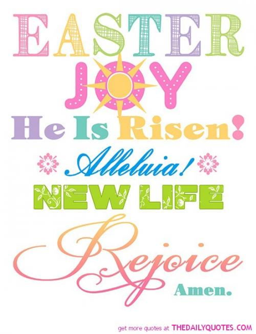Happy Easter or Happy Resurrection day to all.Lets not forget the true meaning of Easter.