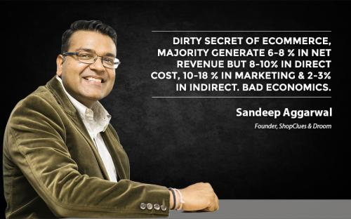 Dirty secret of e-commerce, majority generate 6-8% in net revenue but 8-10% in direct cost, 10-18% in Marketing & 2-3% in indirect. Bad economics.