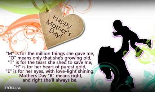 I take this chance to thank you for your immeasurable contribution to my life. Thank you Mom! And wish you a Very Happy Mothers Day!