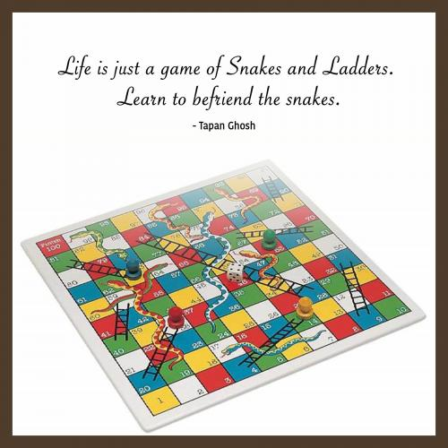 Life is just a game of Snakes and Ladders. Learn to befriend the snakes.