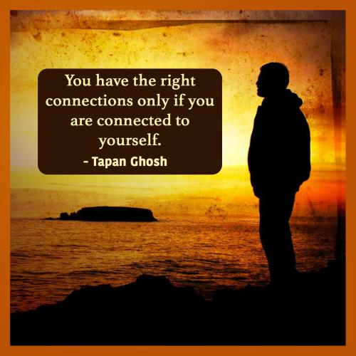 You have the right connections only if you are connected to yourself.