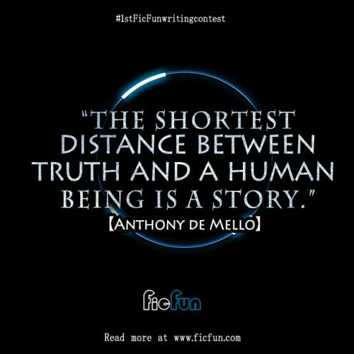 The shortest distance between truth and a human being is a story