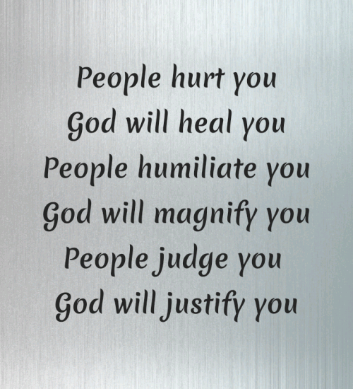 People hurt you