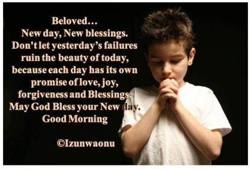 New day, new Blessing.