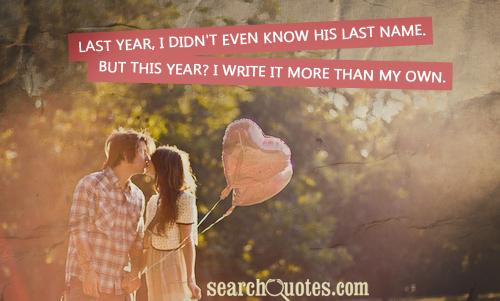 Last year, I didn't even know his last name. But this year? I write it more than my own.