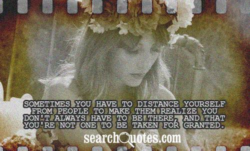 Sometimes You Have to Distance