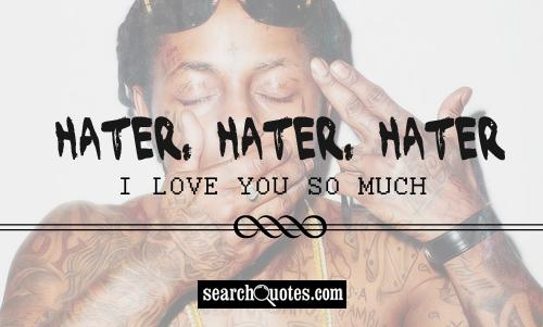 Hater, hater, hater -- I love you so much