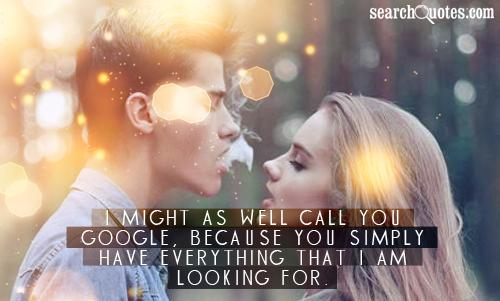 I might as well call you Google, because you simply have everything that I am looking for.
