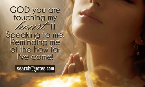God you are touching my heart!!! Speaking to me! Reminding me of the how far I've come!